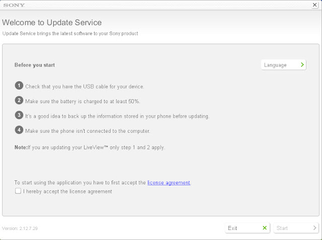 Sony Ericsson Xperia Mini ST15i Android 4 ICS update steps - 2