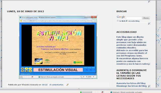 En la presentación del blog la imagen se vería ampliada.
