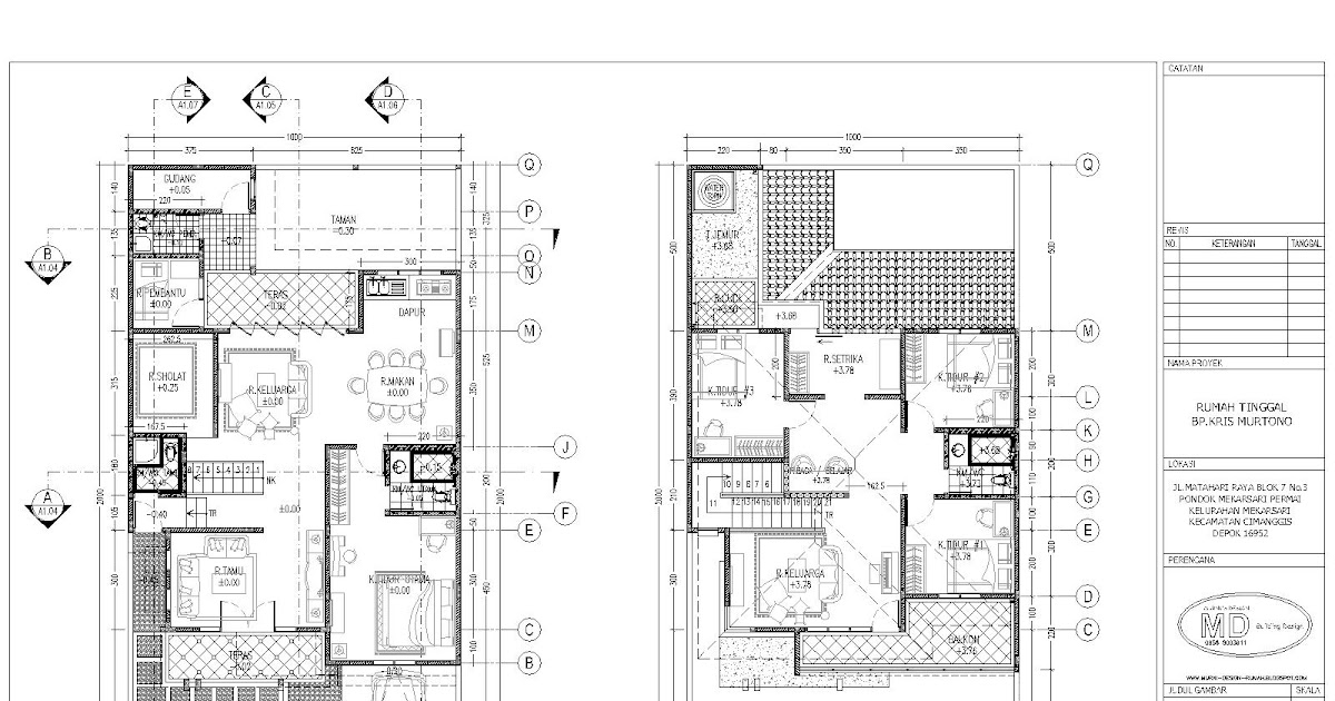 denah rumah minimalis 2 lantai type 70 contoh rumah