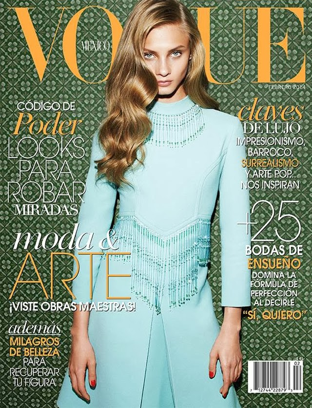 Anna Selezneva covers Vogue Mexico February 2014