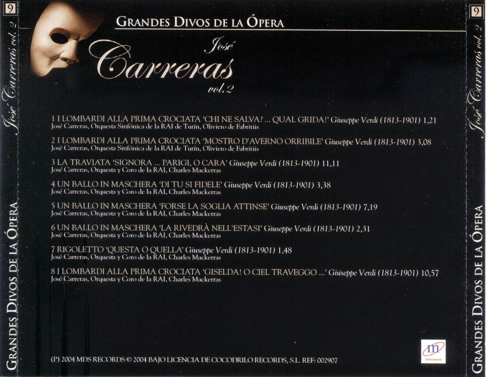 Grandes Divos de la Ópera-cd9-José Carreras-carátula trasera