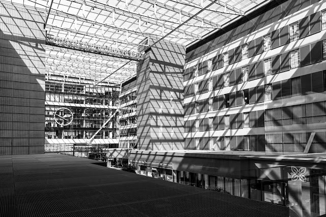 Matthew G. Beall vision driven black and white fine art photography  2013    Frankfurt Airport Hilton Lines and Shadows 1