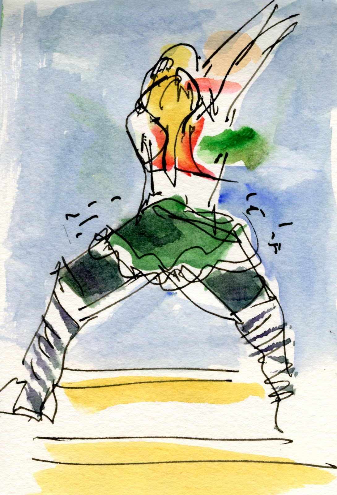 Whidbey Island Sketchers: Christmas Eve at Zumba!