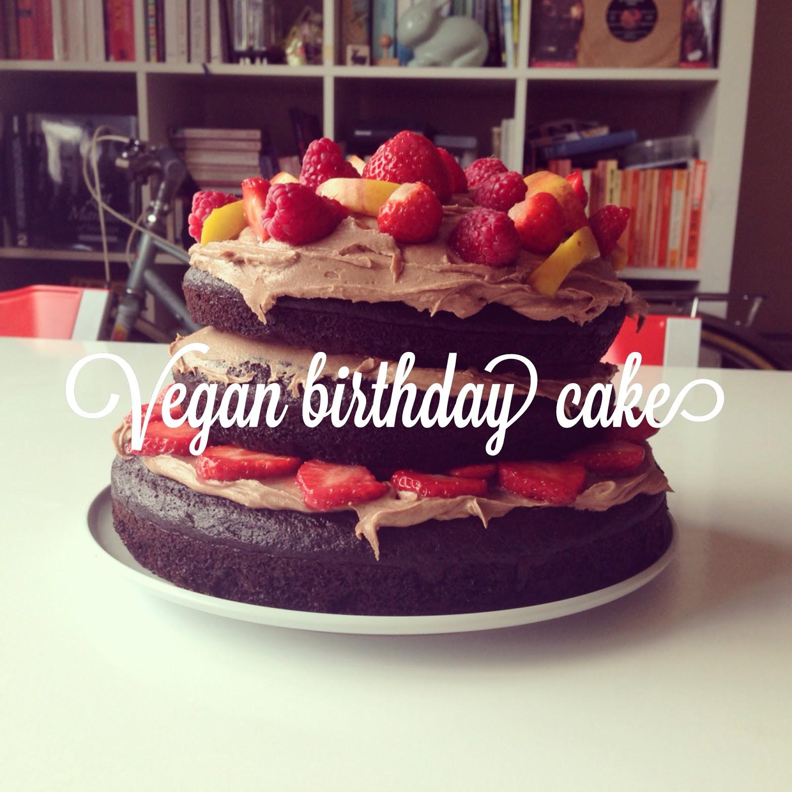 Guac And Roll: Vegan Chocolate Birthday Cake