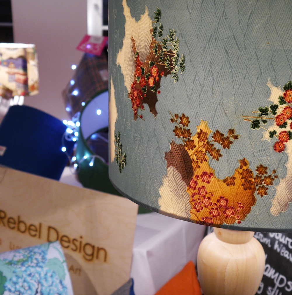 Tea Green, Glasgow, craft and design market, The Lighthouse, Lighthouse Late, Scottish Bloggers, UrbanRebel Design, Lampshade, interior