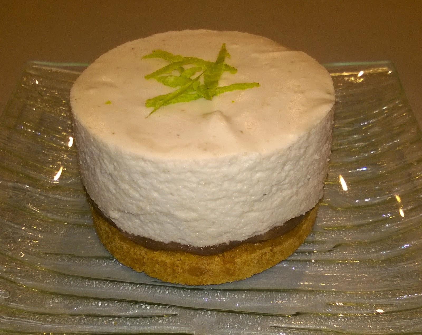 Cheesecake au citron vert et à la crème de marrons
