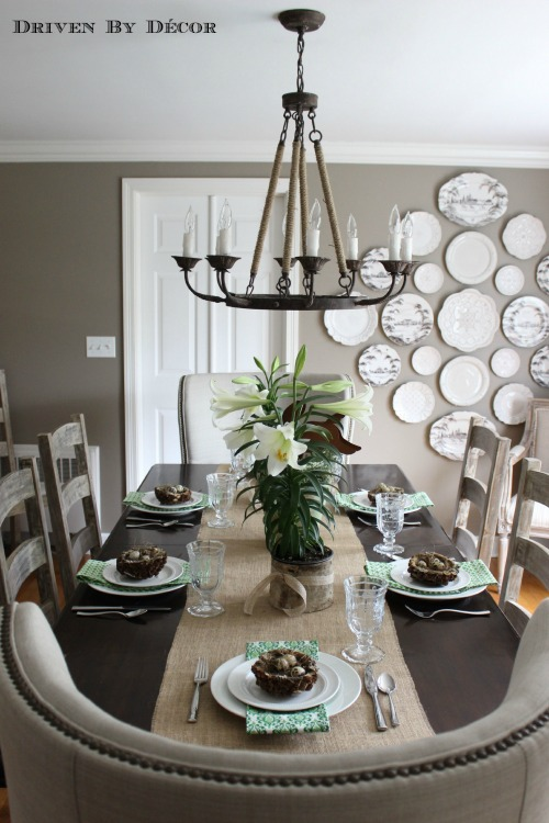 Simple Natural Easter Table Decorations Driven By Decor