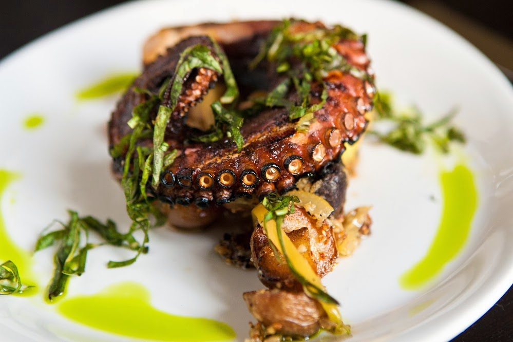 Grilled octopus on the charcoals, Mediterranean Diet, The Cretan Diet