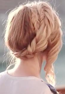Crown Braid Updo Hairstyle Tutorial