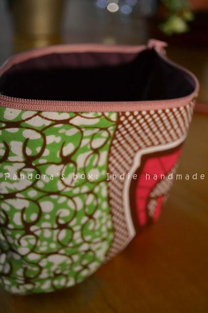 Handmade make-up bag