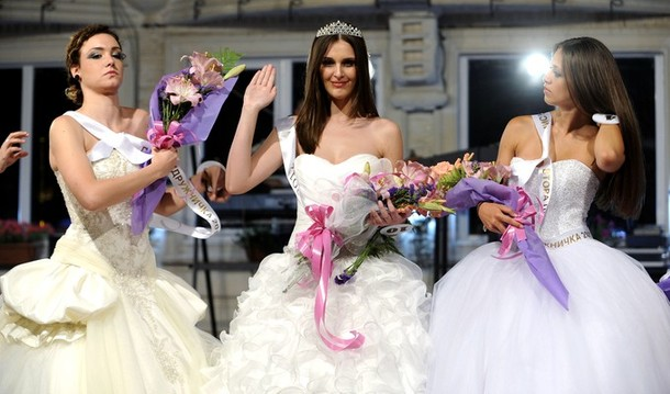 Miss Macedonia FYRO 2012 winner Aneta Stojkovska