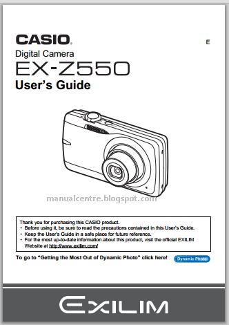 Casio Exilim EX-Z550 Manual Cover