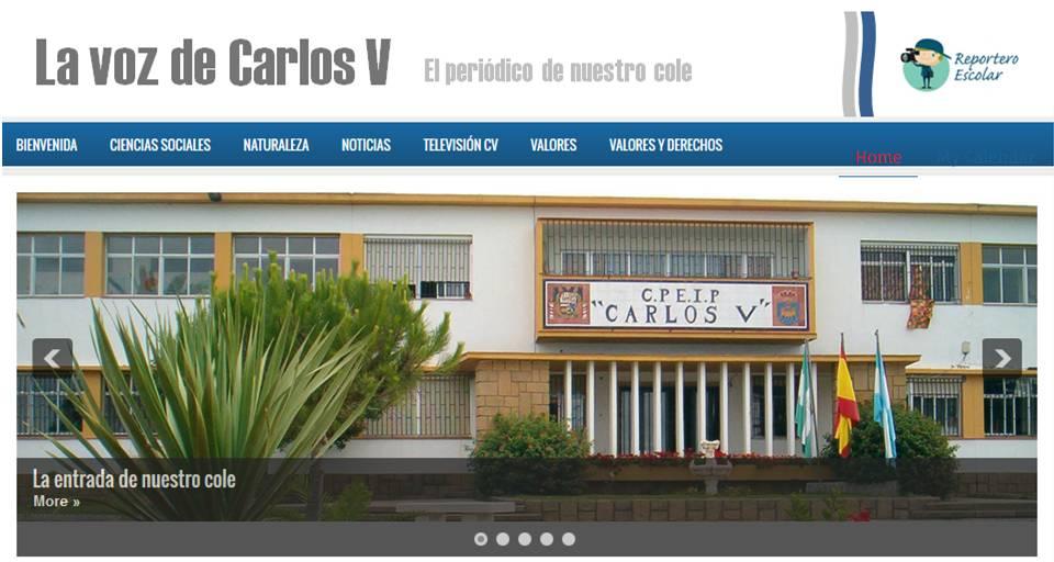 La voz de Carlos V: el periódico digital del cole