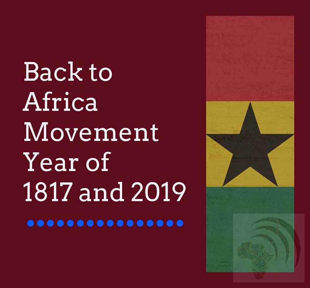 Read About Back to Africa Movement Year of 1817 and 2019