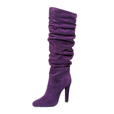Suede Boots Purple1