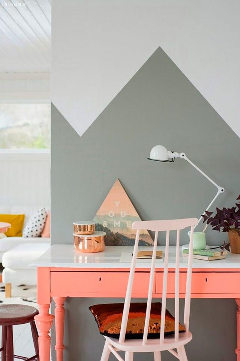 geometrías de colores en tus paredes
