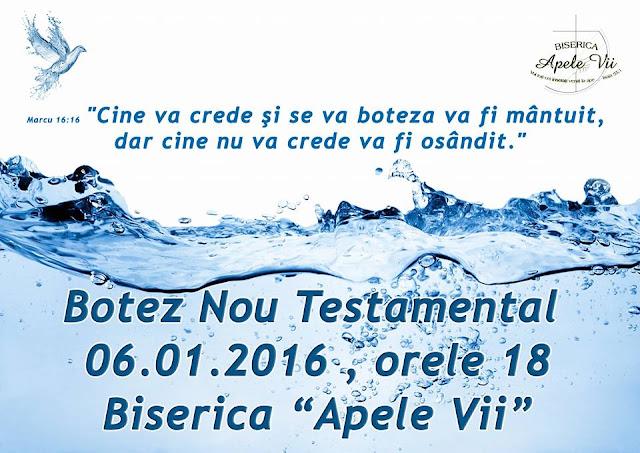 Botez la Biserica Apele Vii din Timisoara - 06 ianuarie 2016