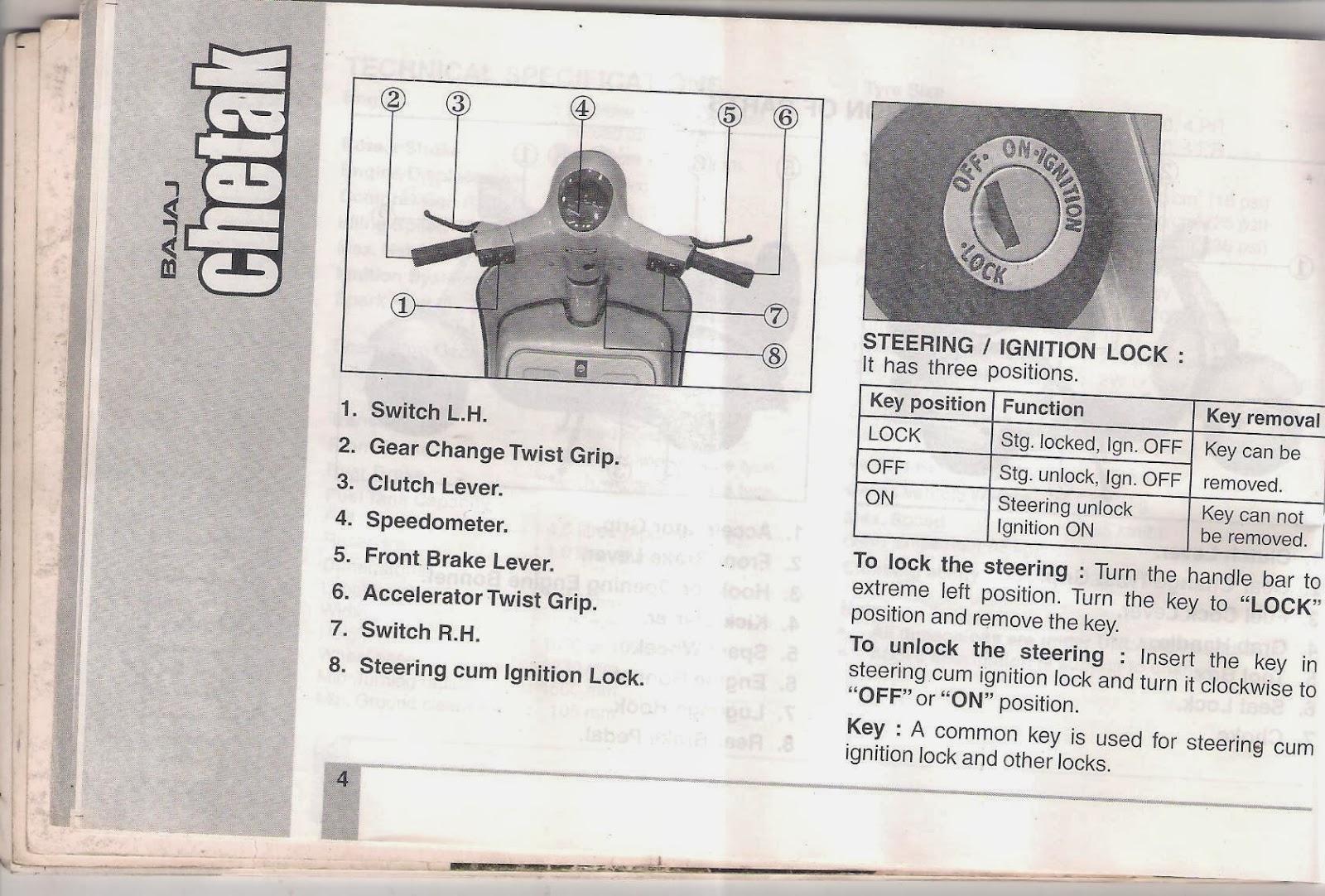 rare motorcycle bajaj chetak 2005 model owners manual rh oldraremotorcycles blogspot com bajaj chetak user manual bajaj chetak manual pdf