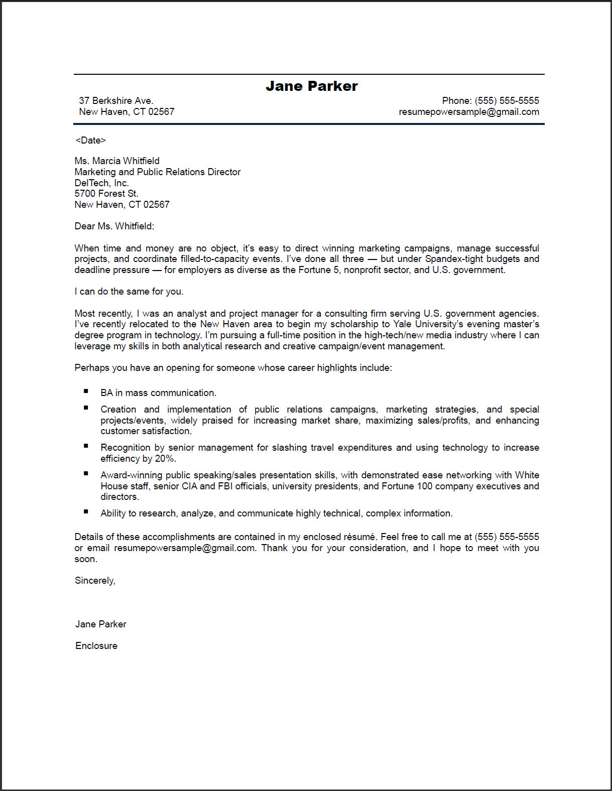 Example Of Good Cv And Cover Letter Pinterest  Free Cover Letter For Resume