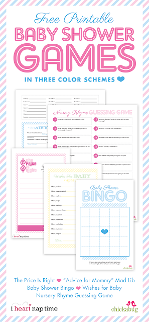 free printable baby shower games from chickabug