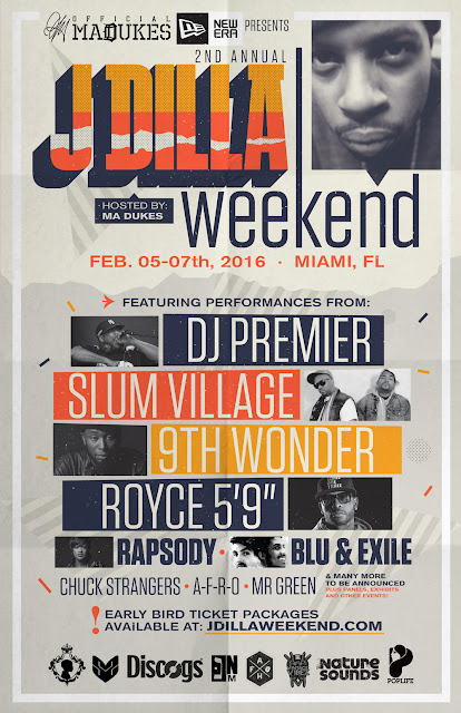 J DILLA WEEKEND 2016 ALL-ACCESS PASS (MIAMI, FEB 5-7TH)