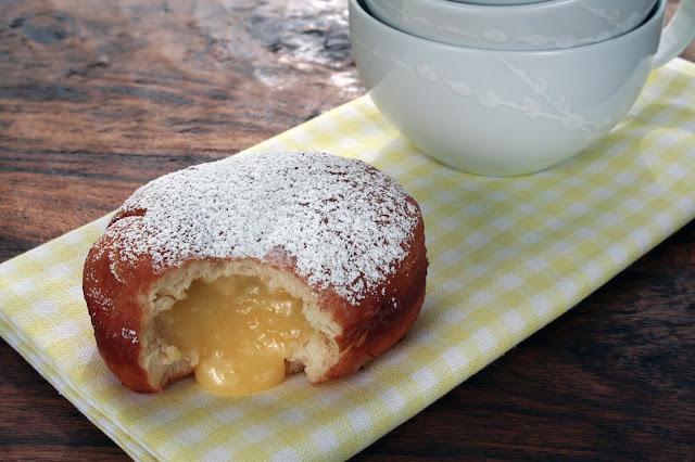 Homemade Lemon-Filled Doughnuts