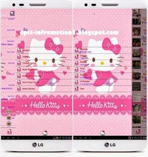 BBM Mod Theme v3 Hello Kitty Versi 2.8.0.21 + Change Color Background