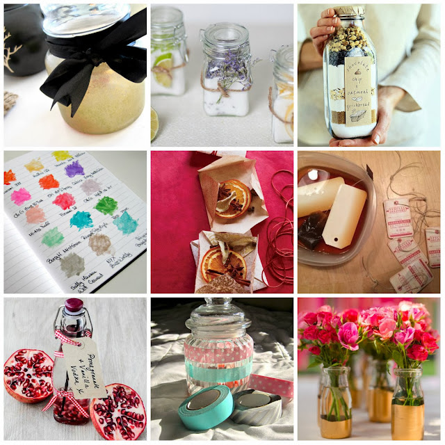 Favorite DIYs of 2013 diy candle jar labels vanilla vodka nail polish flavored salt lavender salt lemon salt pink golden jars mason jar diy