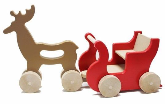 Manny & Simon Reindeer Sleigh Wooden Toy