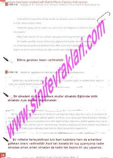 8.Sinif Turkce Enderun Yayinlari Calisma Kitabi Cevaplari Sayfa 58