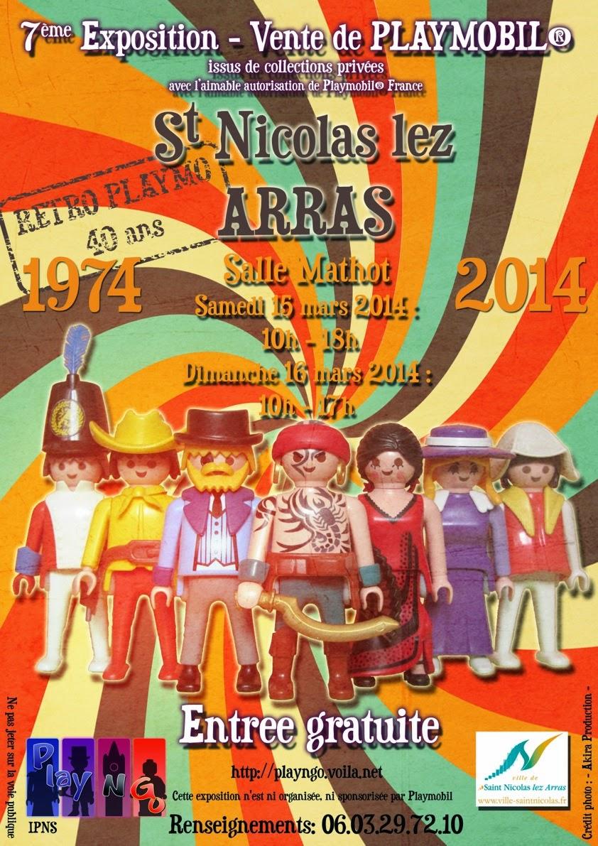 Expo-Vente Playmobil St Nicolas Lez Arras, 15 - 16 mars 2014