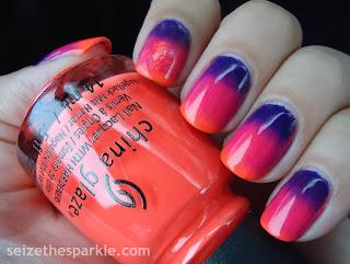 Neon Gradient Manicure