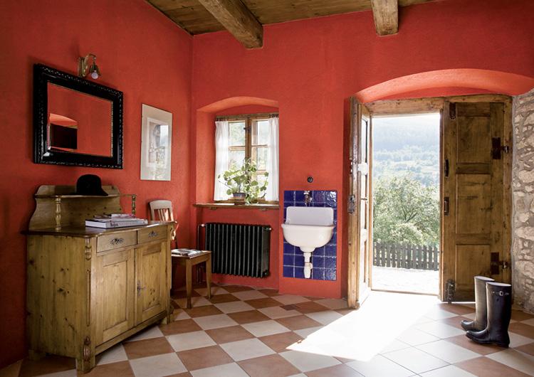Estilo rustico casa de campo rustica en masuria - Chimeneas rusticas para casas de campo ...