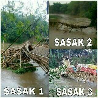 Diterjang Air Bah, 4 Jembatan Darurat Roboh