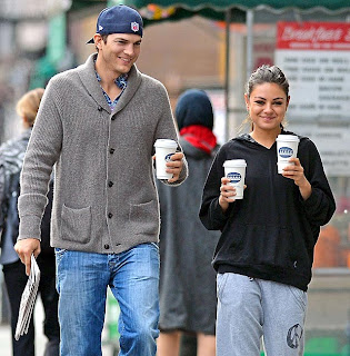 Ashton Kutcher and Mila Kunis are off to Britain