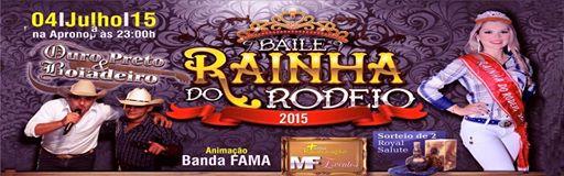 MF EVENTOS Realiza na APRONOP neste dia 04-07-2015 o Grande BAILE da Rainha do Rodeio - Mariel Fari
