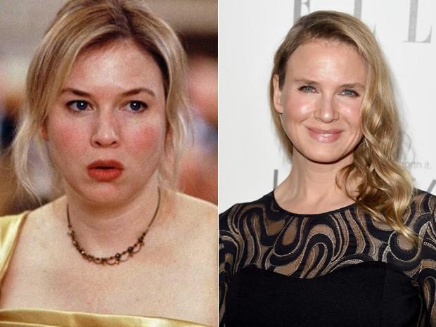 Reneé Zellweger em 2001 e agora em 2014  (Foto: Divulgação e Jason Merritt/Getty Images for ELLE/AFP)