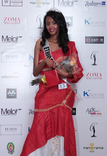 Miss Universe Ethiopia 2012 winner Helen Getachew