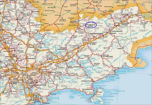 Mapa localização Campos do Jordão