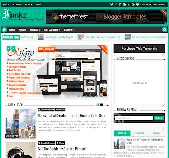 Ijonkz Responsive Magazine/News Blogger Template