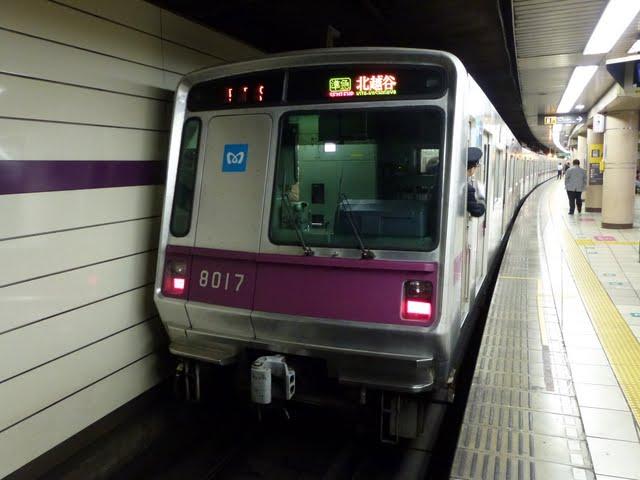 東京メトロ半蔵門線 東武伊勢崎線 準急 北越谷行き1 8000系