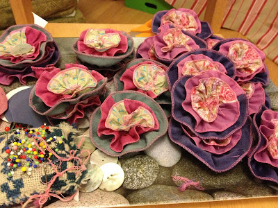 Organic fair trade hand sewn corsages Sarah Sidders Designs