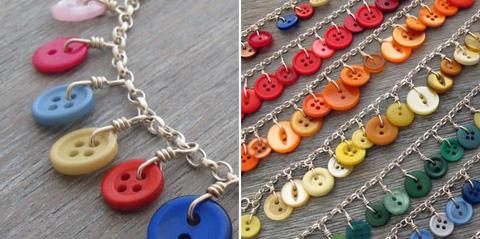 Kreasi Gelang dari Kancing - Button Bracelet