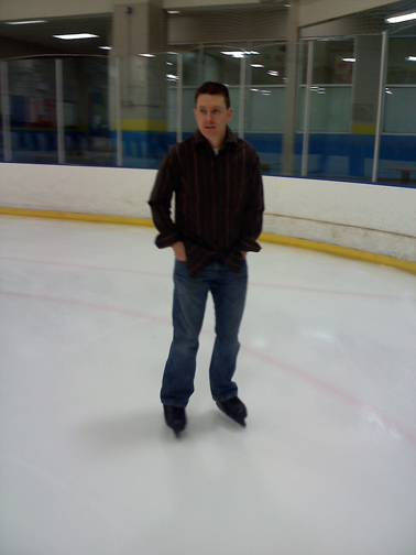 We went ice skating, something I haven't done since I was seven.