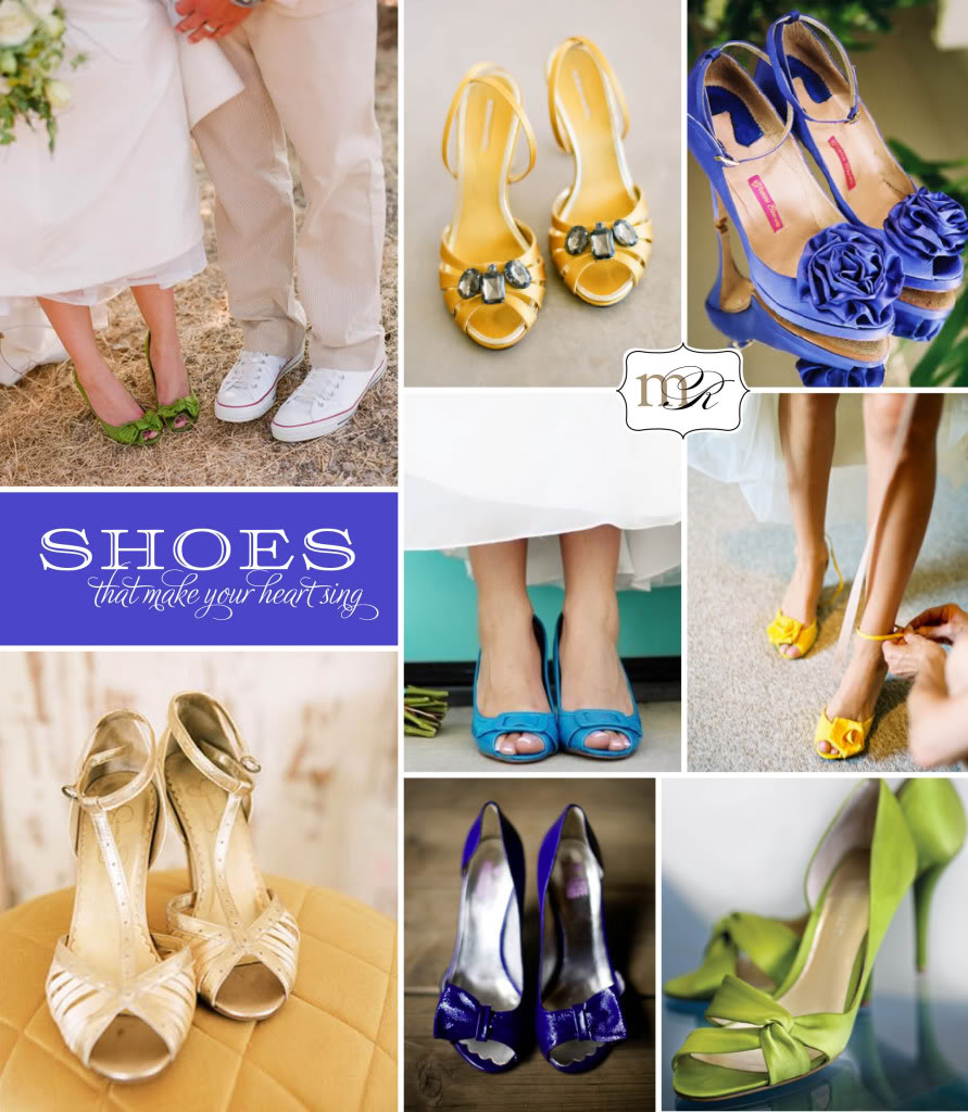 Colourful Wedding Shoes Bridal Sepatu Pengantin Warna Warni