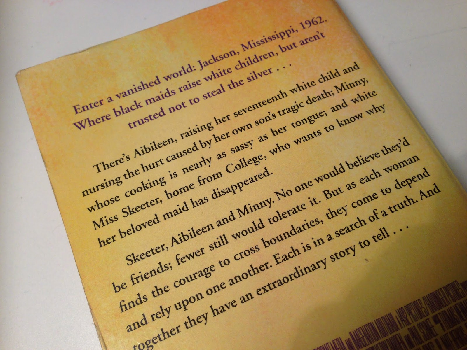 The Help By Kathryn Stockett  Tyras Bookshelf I Recently Bought The Help By Kathryn Stockett And I Devoured It In What  Felt Like Seconds