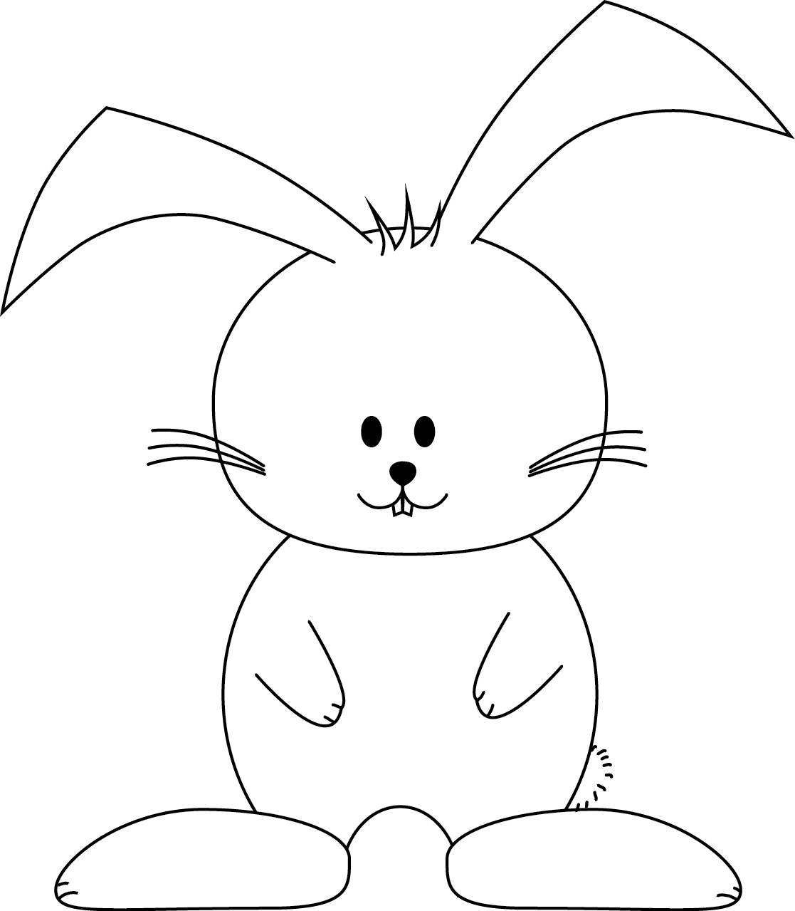 Easter bunny pictures to color for Easter picture templates