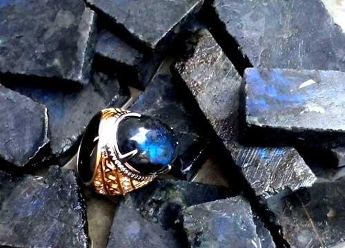 bahan batu lambrador biru