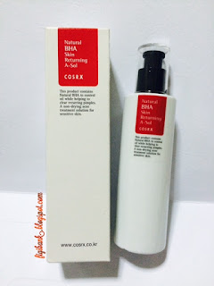 COSRX Natural BHA Skin Returning A-Sol box and bottle