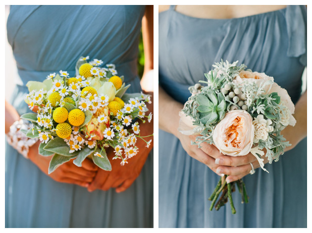 Bouquets for Blue Bridesmaid Dresses
